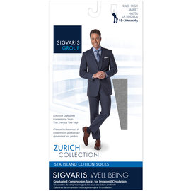 SIGVARIS Men's Sea Island Cotton Calf 15-20mmHg
