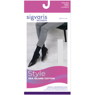 SIGVARIS Women's Style Sea Island Cotton Calf 20-30mmHg