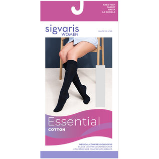 SIGVARIS Women's Essential Cotton Calf 20-30mmHg