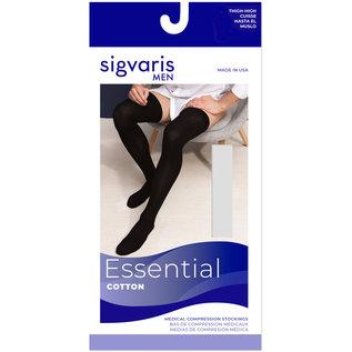 SIGVARIS Men's Essential Cotton Thigh-High 30-40mmHg