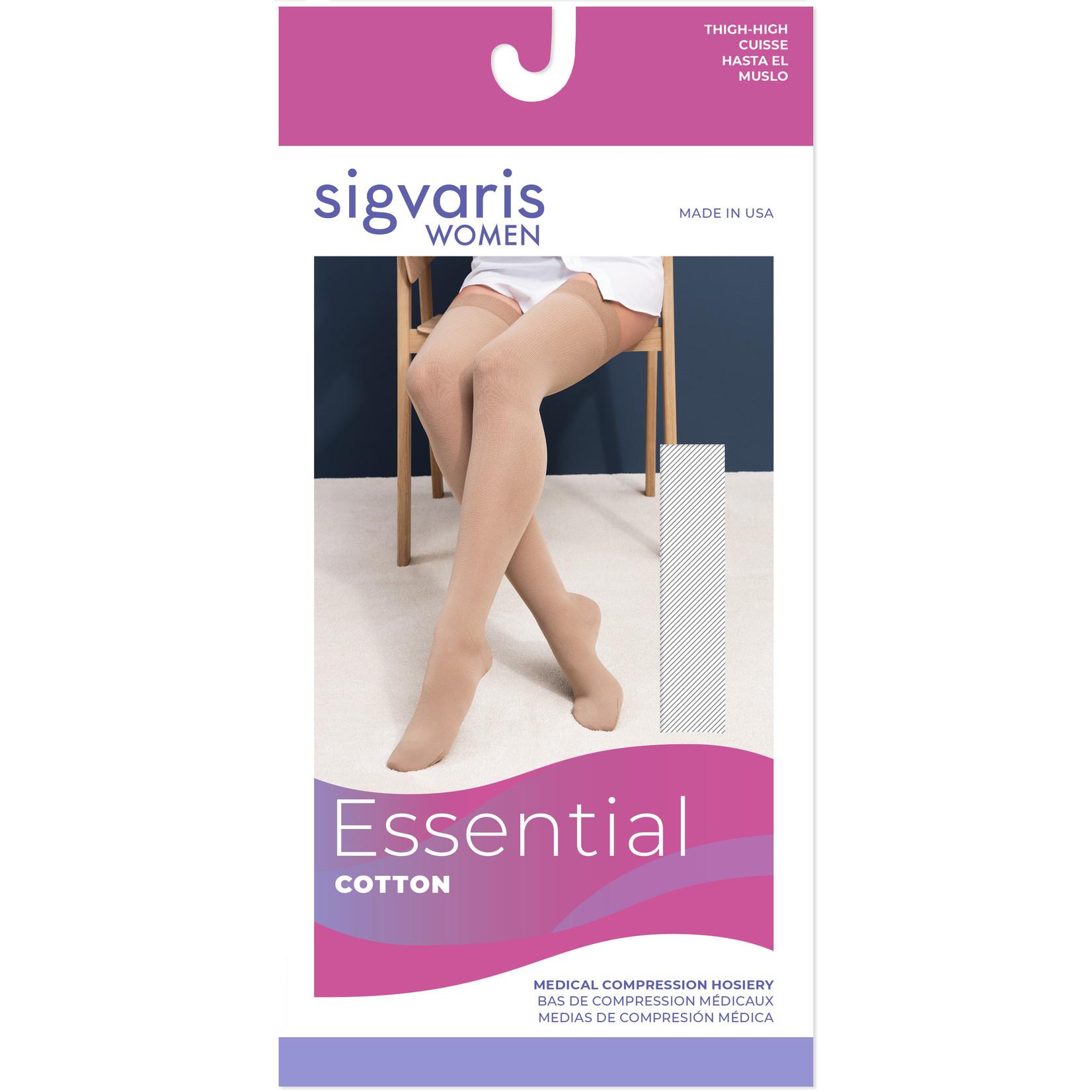 SIGVARIS Women's Essential Cotton Calf 30-40mmHg