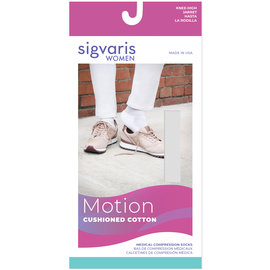 SIGVARIS Women's Motion Cushioned Cotton Calf 20-30mmHg