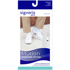 SIGVARIS Men's Motion Cushioned Cotton Calf 20-30mmHg