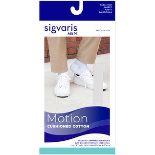 SIGVARIS Men's Motion Cushioned Cotton Calf 20-30mmHg