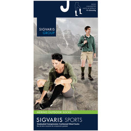 SIGVARIS Merino Outdoor Socks Calf 15-20mmHg
