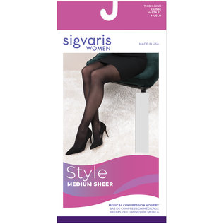 SIGVARIS Women's Style Medium Sheer Thigh-High 20-30mmHg