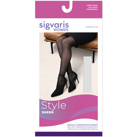 SIGVARIS Women's Style Sheer Pantyhose 15-20mmHg