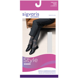 SIGVARIS Women's Style Sheer Calf 20-30mmHg