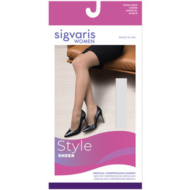SIGVARIS Women's Style Sheer Thigh-High 20-30mmHg