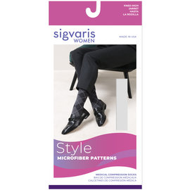 SIGVARIS Women's Style Microfiber Patterns Calf 20-30mmHg