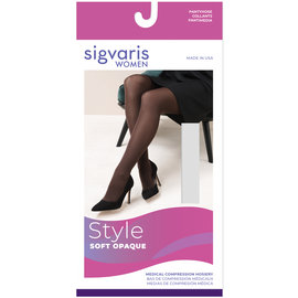 SIGVARIS Women's Style Soft Opaque Pantyhose 15-20mmHg