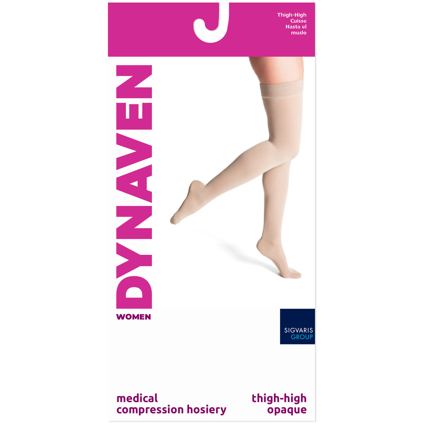 SIGVARIS Women's DYNAVEN Thigh-High 20-30mmHg