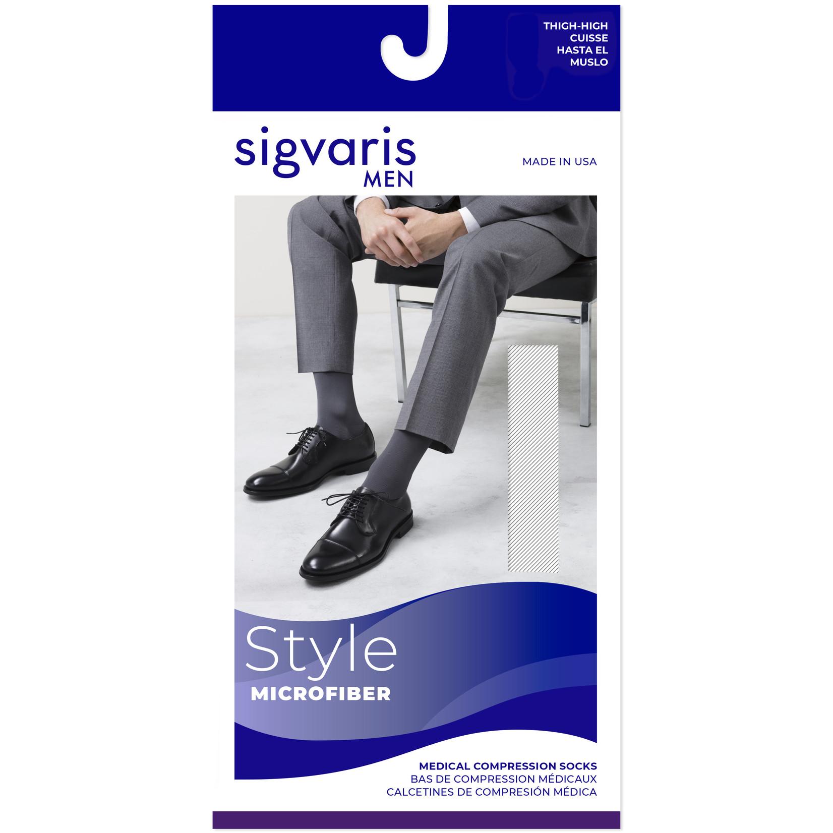 SIGVARIS Men's Midtown Microfiber Thigh-High