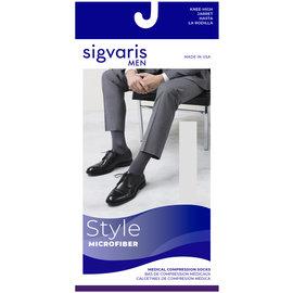 SIGVARIS Men's Style Microfiber Calf