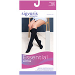 SIGVARIS Women's Essential Cotton Calf with Grip-Top