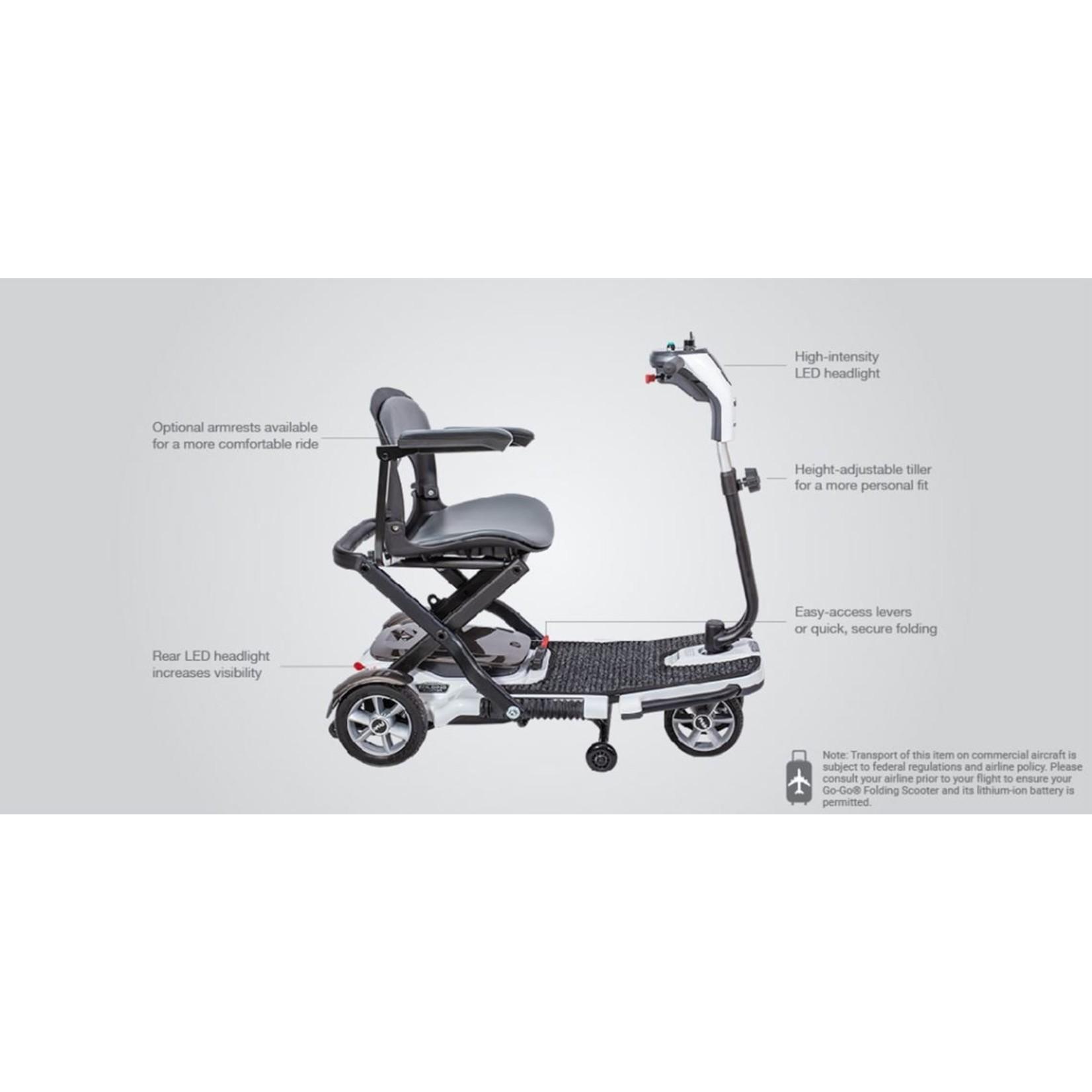 Pride Go-Go Folding 4-Wheel Scooter - Lithium