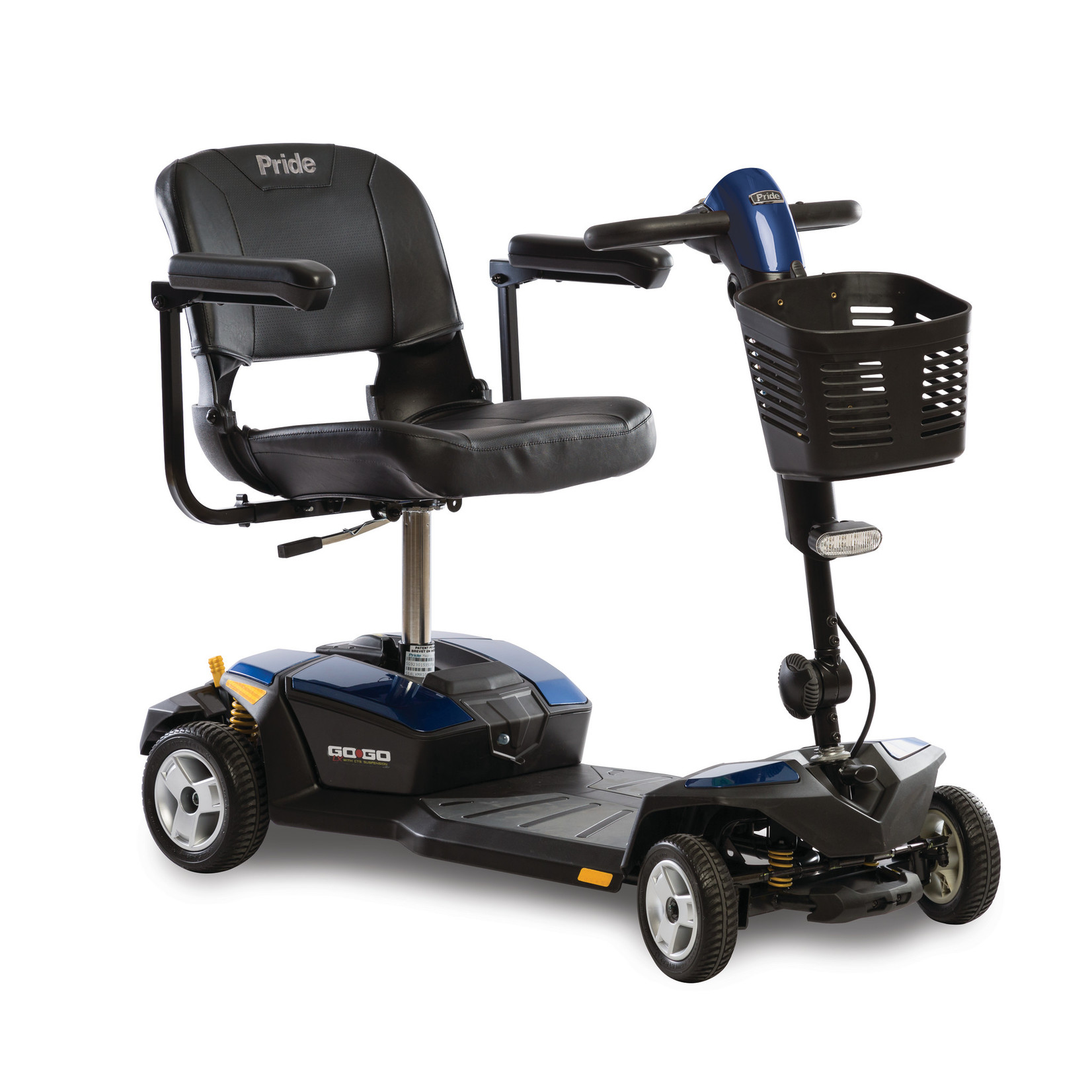 Pride Go-Go LX with CTS Suspension 4-Wheel Scooters 12AH Battery