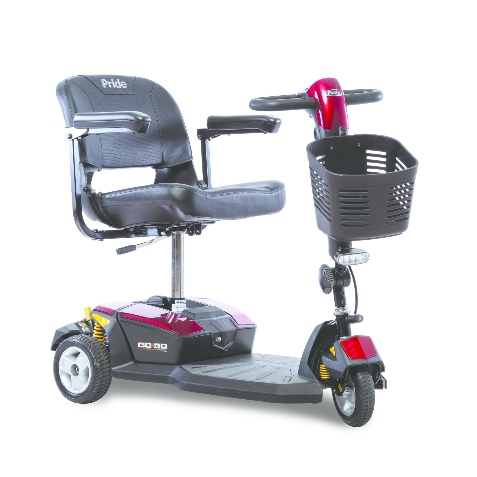 Pride Go-Go LX with CTS Suspension 3-Wheel Scooters 12AH Battery