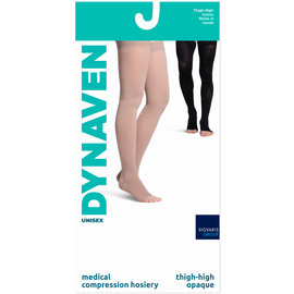 SIGVARIS Men's DYNAVEN Thigh-High 20-30mmHg LS - Large Short Light Beige (Crispa) Closed Toe