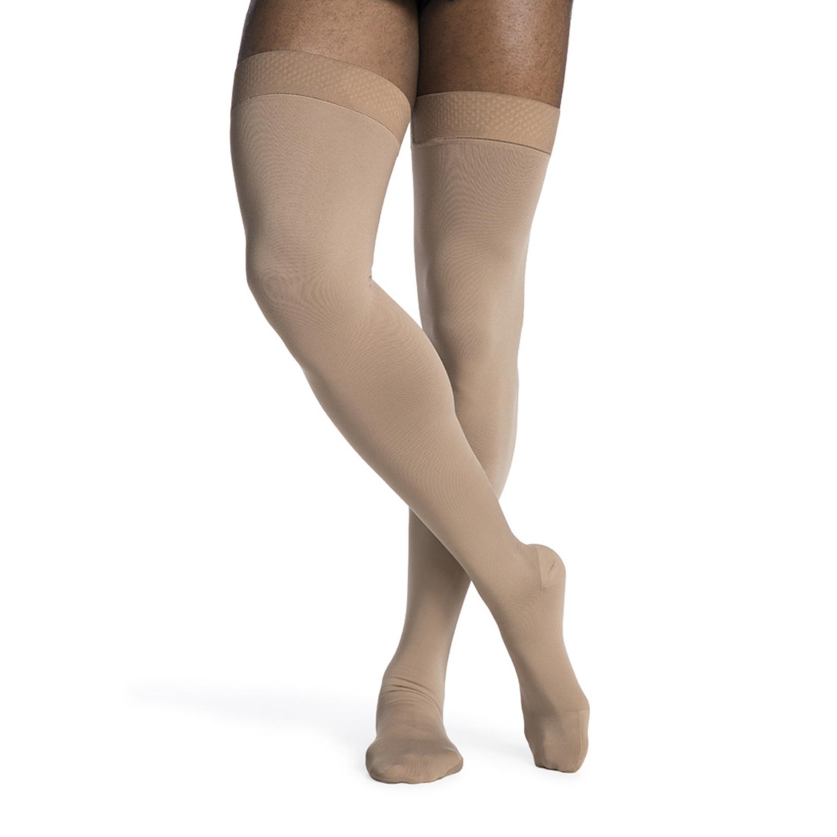 SIGVARIS Men's DYNAVEN Thigh-High 20-30mmHg LS - Large Short Light Beige (Crispa) Closed Toe