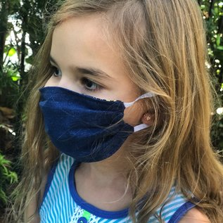 Face Cover - Reversible Kids Reversible Mask Star Denim - Kids