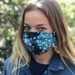 Face Cover - Reversible Peacock - Adult Med