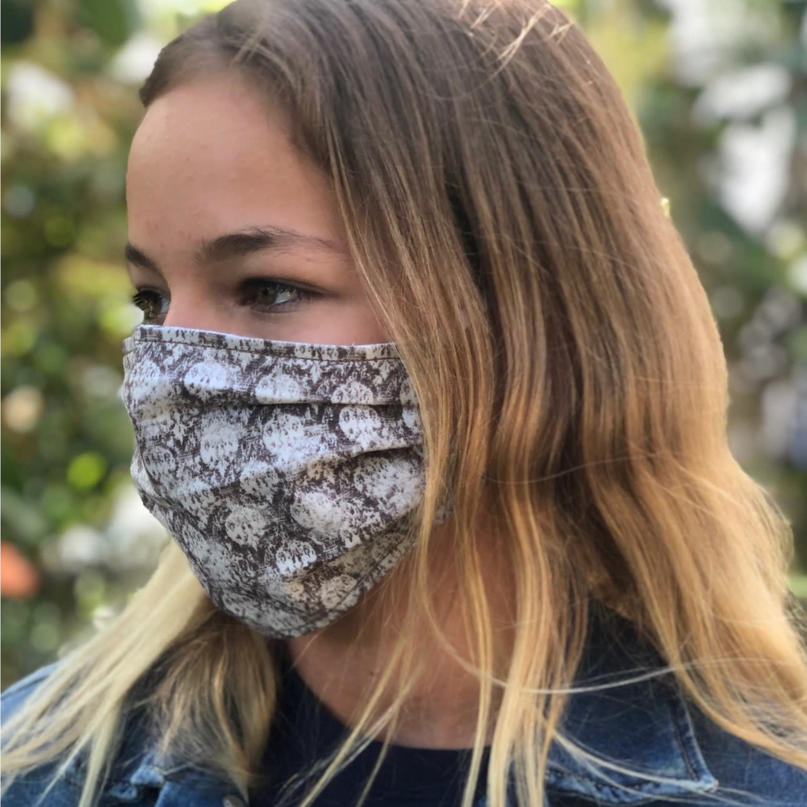 Face Cover - Reversible  -AClassyPrint- Adult Med