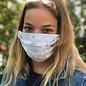 Face Cover - Reversible  -Typed-Ink-Splotch- Adult Med