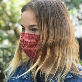 Face Cover - Reversible  -Red-Brick-Woods- Adult Med