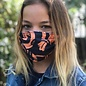 Face Cover - Reversible  -Orange Strokes-White Boxes- Adult Med