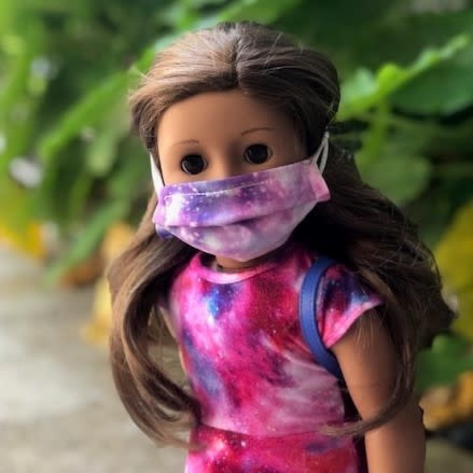 "Face Cover - Reversible  -DOLL 18"" Galaxy-Purple Nature"