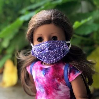 """Face Cover - Reversible  -DOLL 18"""" Galaxy-Purple Nature"""