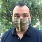 Face Cover - Reversible Rustic Wood-Script - Large