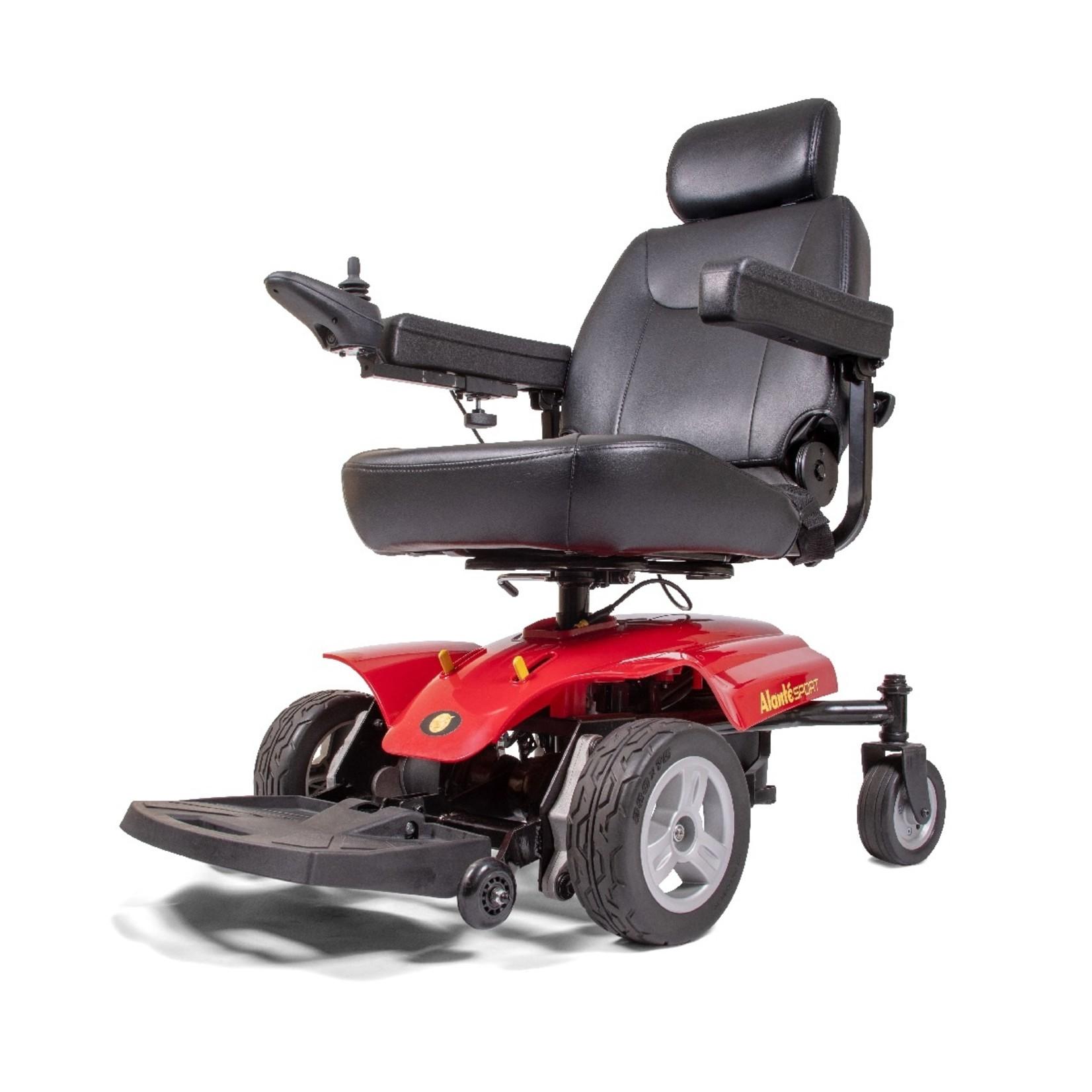Golden Technologies Alante Sport Front-Wheel Drive-Red Power Chair