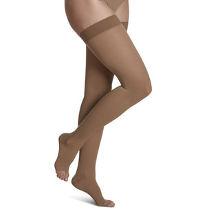 SIGVARIS Women's Essential Cotton Thigh-High 30-40mmHg
