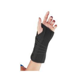 FLA Orthopedics SOFT FIT SUEDE FINISH WRIST BRACE RIGHT SM BLACK