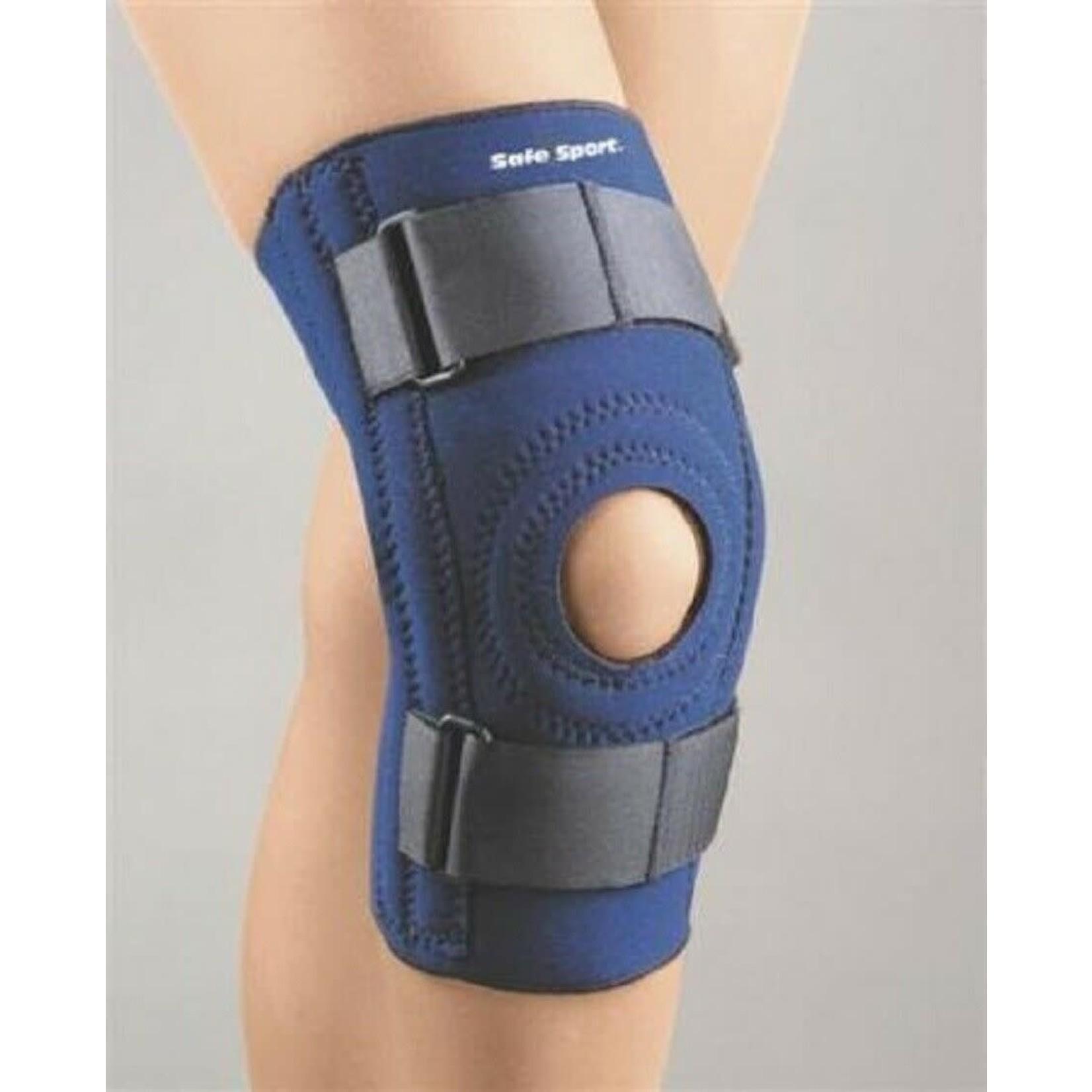 FLA Orthopedics SAFE-T-SPORT KNEE SUPPORT STABILIZING PED PKG NAVY  PED/LG