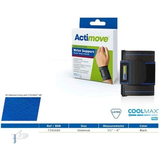 Actimove Actimove Wrist Support Elastic Wrap Around Universal Black