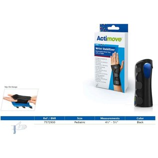 Actimove Actimove Kids Wrist Stabilizer Removable Metal Stay Left or Right Pediatric Right/Left Black
