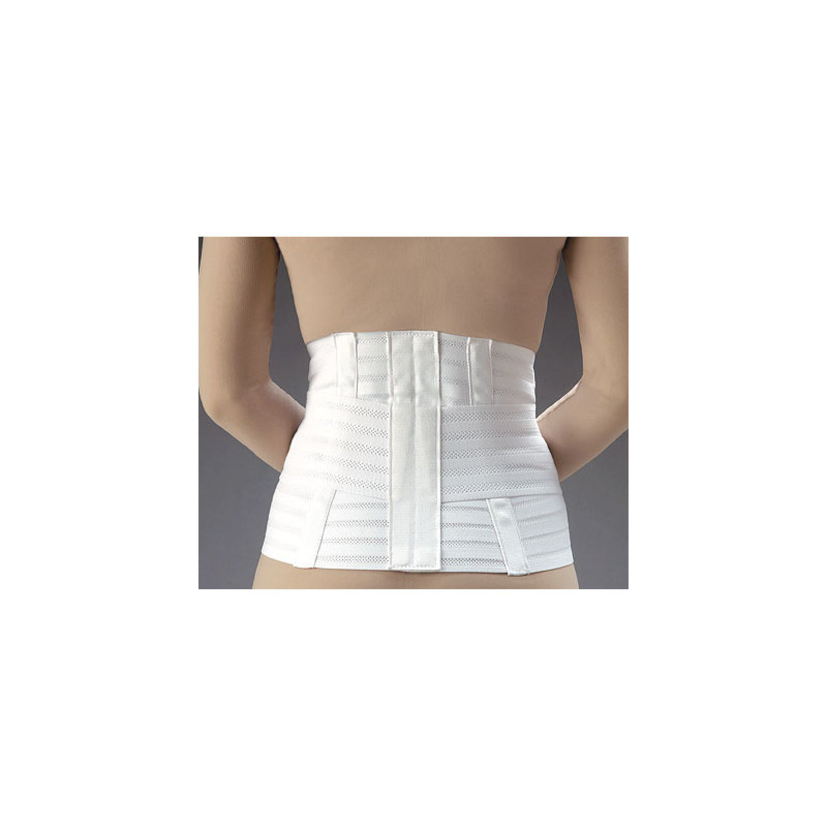 FLA Orthopedics LUMBAR SUPPORT VENTILATED W/BELT WHITE