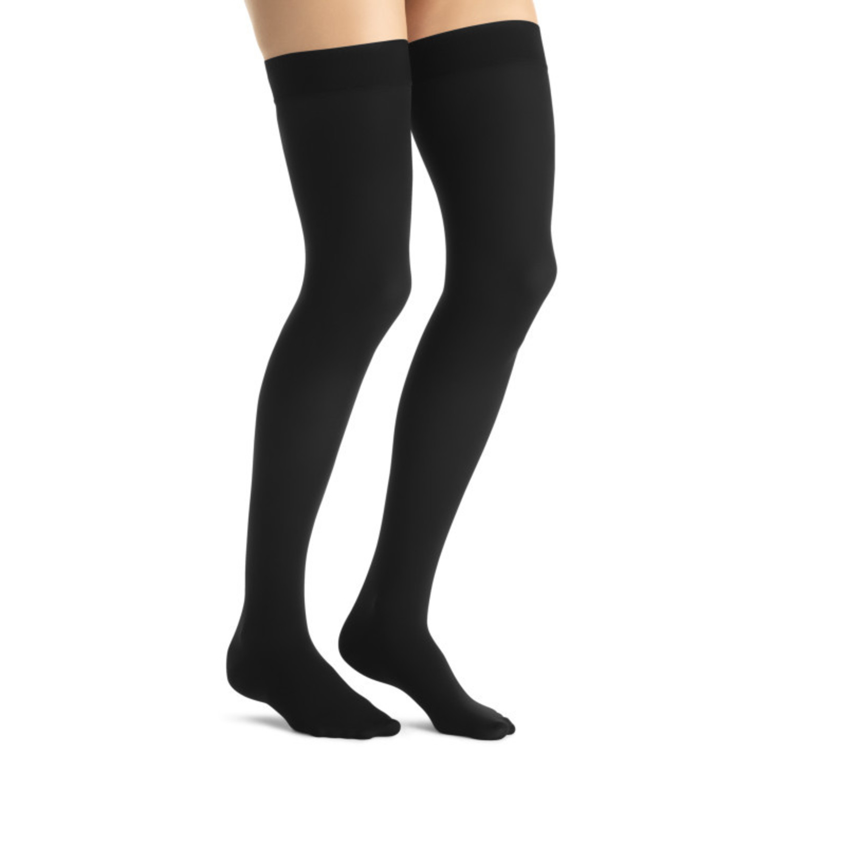 JOBST JOBST OPAQUE THIGH 15-20 CLOSED TOE DOT CLASSIC BLACK MD