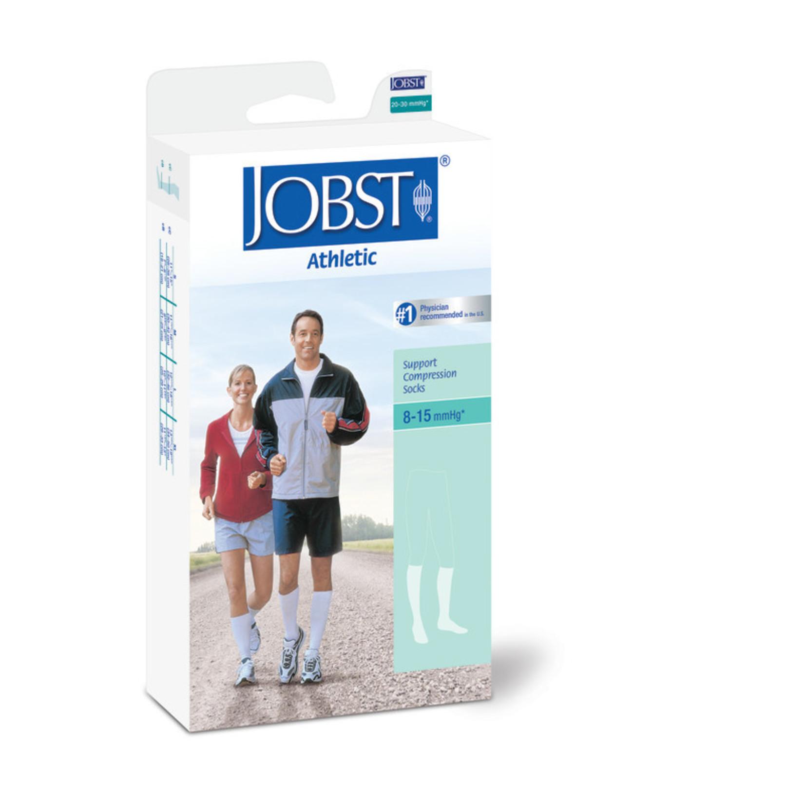 JOBST JOBST ATHLETIC KNEE CLOSED TOE WHITE 8-15 mmHg