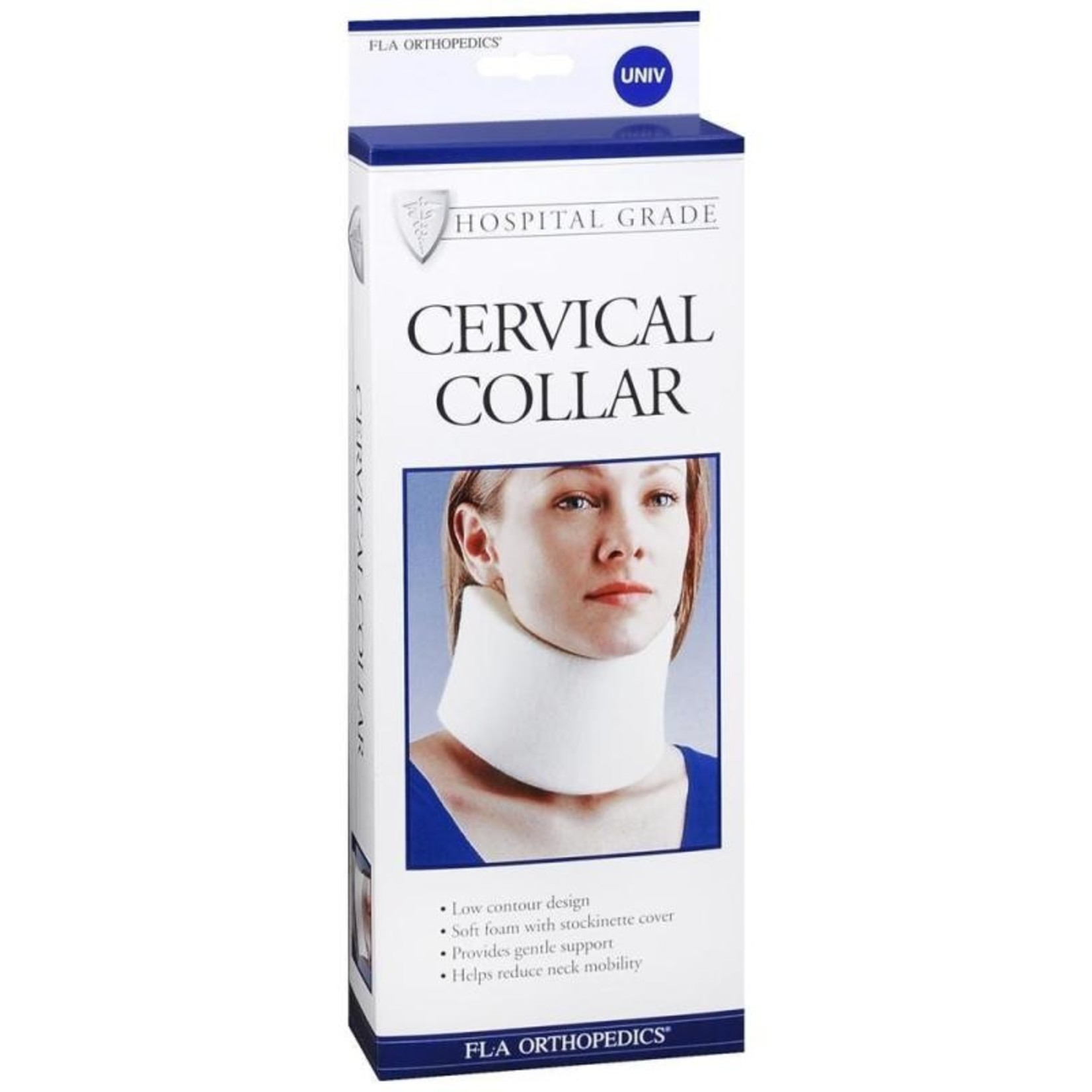 FLA Orthopedics CERVICAL COLLAR REG DENS NARROW WIDTH 2.5IN BEIGE