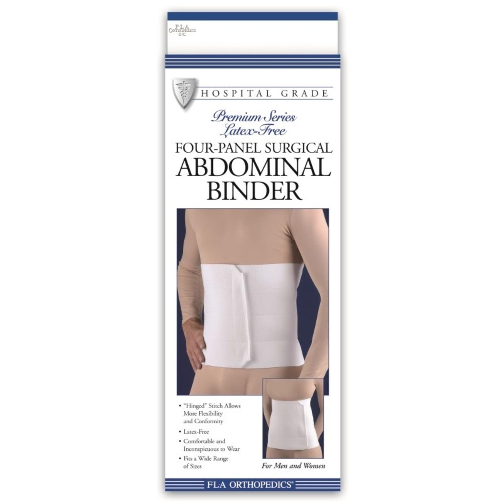 FLA Orthopedics ABDOMINAL BINDER FOUR PNL 12IN