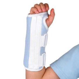 FLA Orthopedics WRIST SPLINT CONTOUR LEFT HAND YOUTH BLUE
