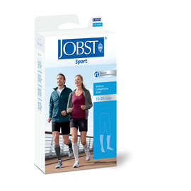 JOBST JOBST SPORT SOCK KNEE CLOSED TOE 15-20 BLACK/GREY XL