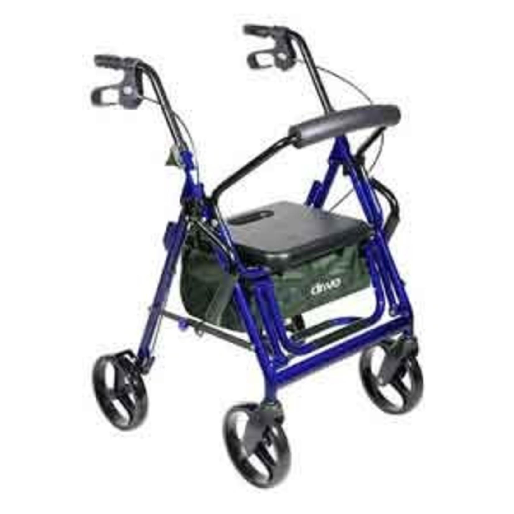 Drive Medical Duet Transport / Rollator BLUE