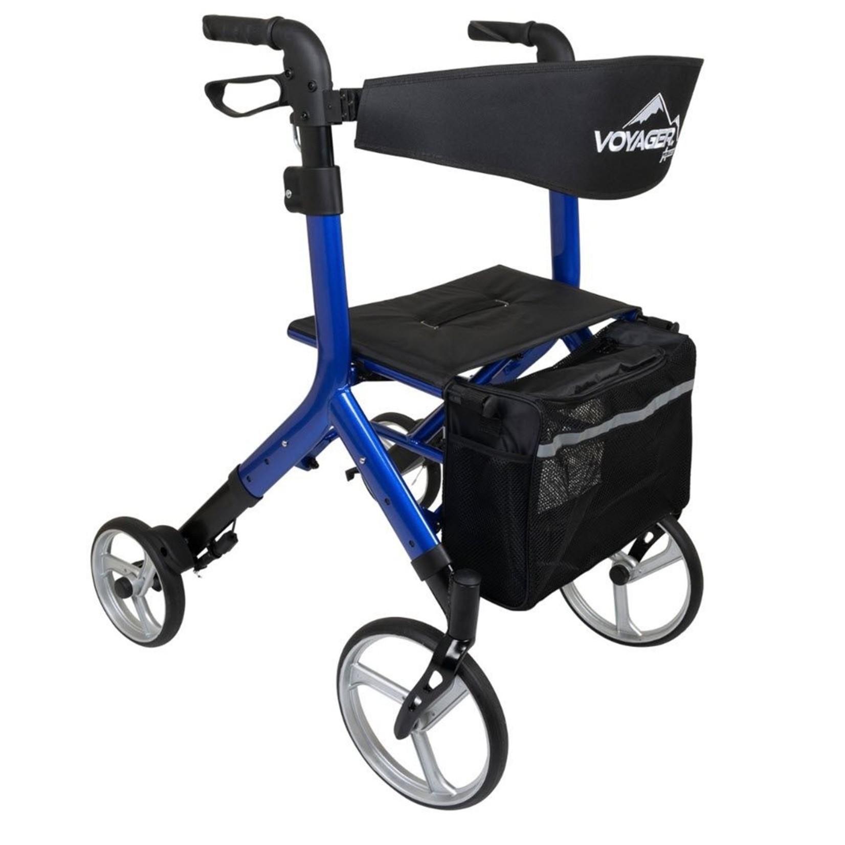Voyager Euro Style Rollator Cobalt Blue