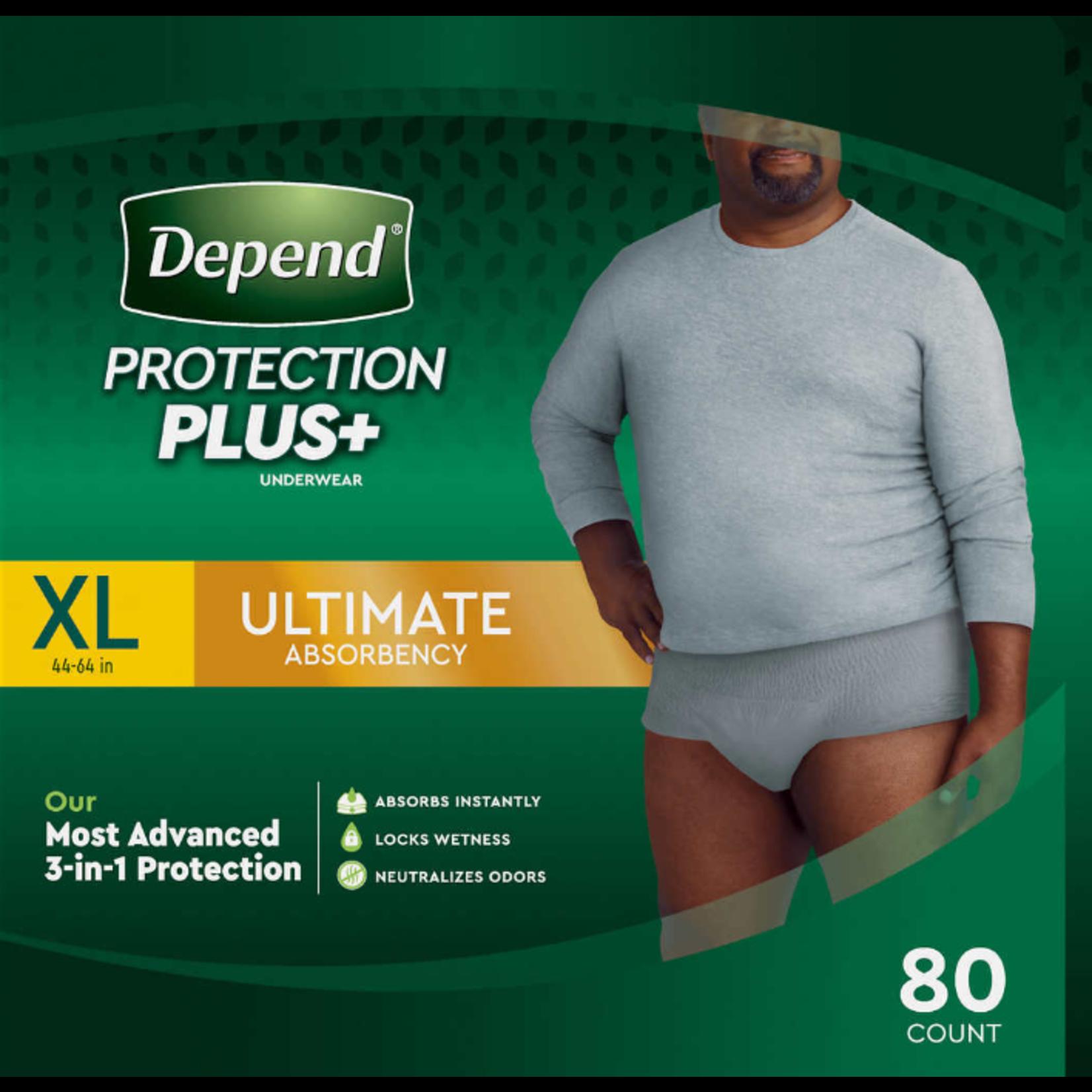 Depends Depends Protection Plus - Men's XL - 80 Pack