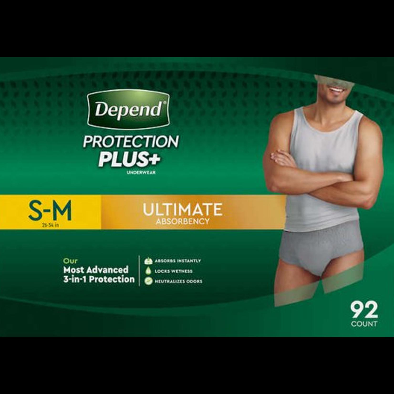 Depends Depends Protection Plus - Men's S-M - 80 Pack